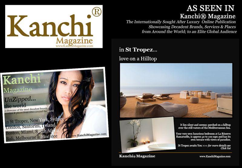 AS SEEN IN Kanchi Magazine Ramatuelle St Tropez